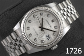 1726-ROLEX DATEJUST 36 OYSTERSTEEL AND WHITE GOLD