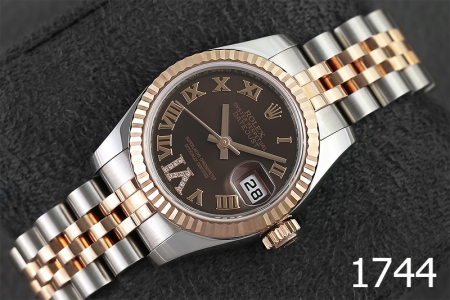 1744-ROLEX LADY DATEJUST 26 SS & EVEROSE GOLD 179171